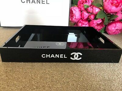 BN Chanel Extra Large Acrylic MakeUp Cosmetic Storage Vanity Tray Organizer VIP