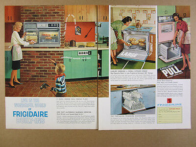 1963 Frigidaire Built-In Ovens Ranges mcm kitchens photos vintage print Ad