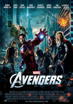 The Avengers Poster Print Borderless Glossy Vibrant Stunning A1 A2 A3 A4