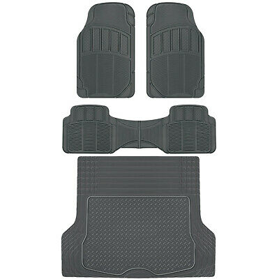 ACDelco All-Climate Rubber Floor Mats - HD Deep Dish Spill Capturing Car Liners