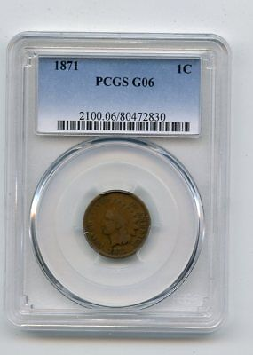 1871 Indian Head Cent (G06) PCGS