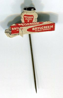 Anstecknadel  60er Jahre- Pin  - Brylcreem  The Perfect Hairdressing