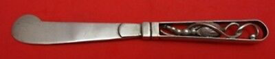 """Blossom Sterling Silver Butter Spreader HH AS Georg Jensen Style 6 1/8"""""""