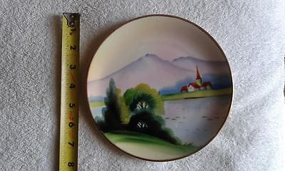 "Vintage Estate 7.5"" Porcelain Hand-Painted Japanese Plate Dish Ta Marked"