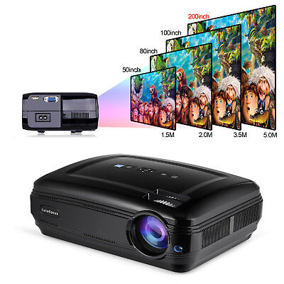 HD HDMI Home Projector Portable LCD Display 4K Video Projector for Game TV Movie
