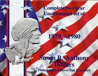 Complete Two Year Uncirculated Set of 1979-1980 Susan B. Anthony Dollars Bi647