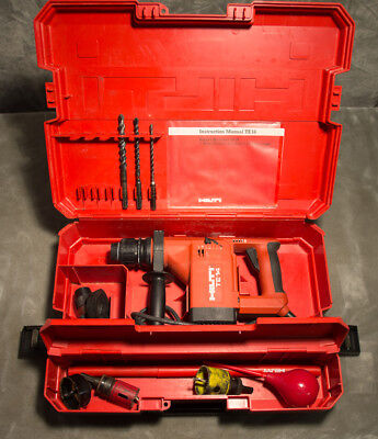Hilti TE-14 Electric Rotary Hammer Drill w/ Case & Bits + Extras ~ Fully Tested