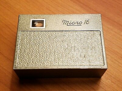 Micro 16 Vintage Spy Camera Green SubMiniature 1940's USA Whittaker