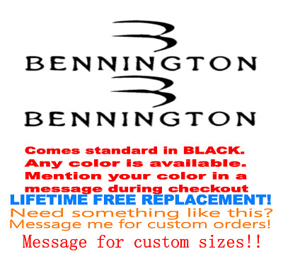 """Pair Of 6""""X28"""" Bennington Boat Hull Decals. Marine Grade. Your Color Choice.46"""