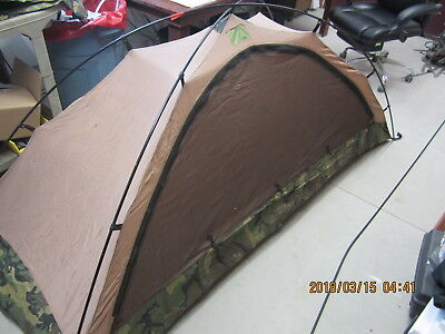 Eureka Military One Man Combat Shelter Tent Woodland Excellent & EUREKA TCOP camo one man combat tent military Army US Marine ...