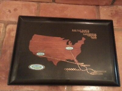 Vintage Sea Ray Boats Dealer 1971 Caribbean Cruise Couroc Of Monterey Cal. Tray