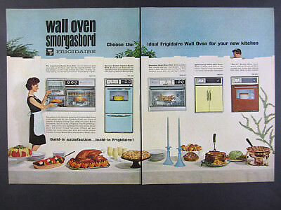 1964 Frigidaire Wall Ovens double single french door models vintage print Ad