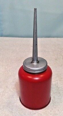 Unusal Vintage Eagle Made USA RED OIL CAN~Lubrication/Spout