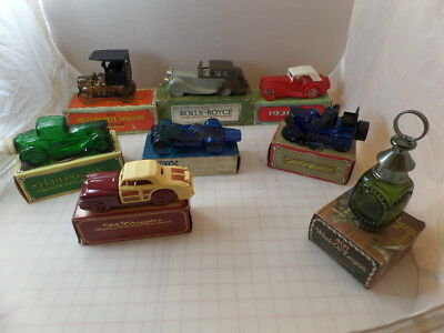 Vintage Avon Car Cologne Lot Bottles Collection 1970's Collectibles in Boxes