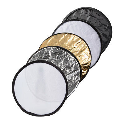 "5in1 12"" Collapsible Round Multi Disc Light Reflector for Studio Outdoor LF789"