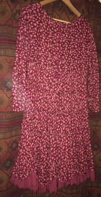 French designer vintage style dress, size L but fits 10+ depending on your style