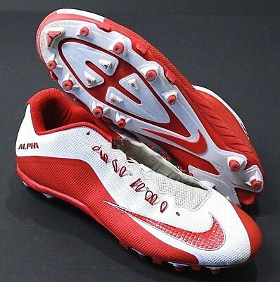 brand new a4863 b8ea8 Men s Nike Alpha Pro 2 TD Promo Football Cleats Red White 719930-166 Size 16