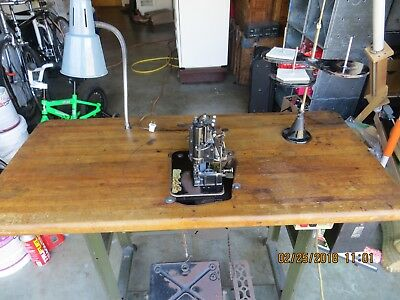 Vintage Union Special Machine Co Industrial Serger Model 39200 AE on Table