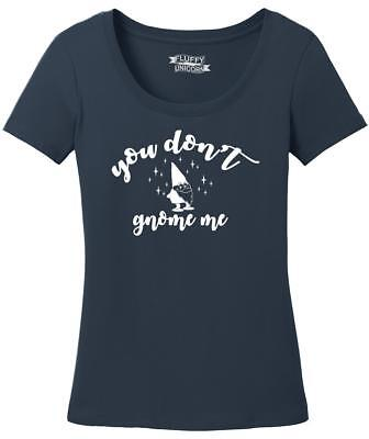 Ladies You Don't Gnome Me Scoop Tee Holiday Christmas Festive