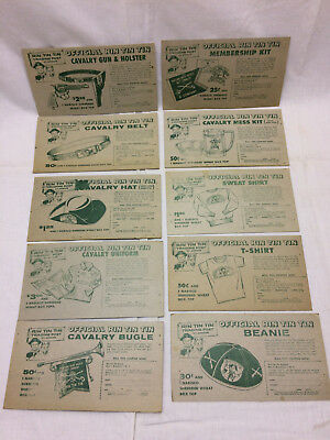 Vintage 1956 Advertising Rin Tin Tin Trading Post 10 Cards Nabisco Coupons
