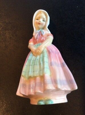 "Royal Doulton ""Tootles"" Little Girl Pink Dress Bone China Figurine~HN1580~Mint"