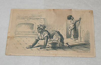 Antique Victorian Advertising Trade Card Sapolio Soap Black Americana