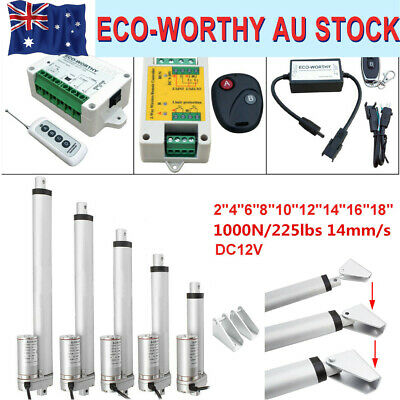 Linear Actuator Motor 1000N 50 100 150 200 300 Heavy Duty Lift 14mm/s AU 12V DC