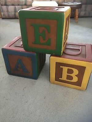 ABC Letter Blocks- Photography props / Children's room accessories