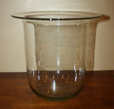 PartyLite Hurricane Glass 3-Wick Replacement Candle Holder Newport, Seville