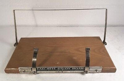 Vintage 1950's Read-Rite Study Board Book Stand Holder Great For Cook Books