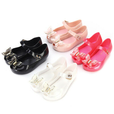 Stereo Butterfly kids Girls Mini Melissa Shoes Sandals Toddler US Size 6-11