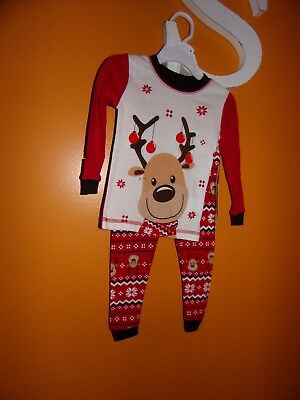 Komar Kids 2T Boys And Girls Unisex Reindeer Long Sleeve Outfit / Christmas/New