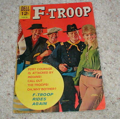 F-Troop #5 Dell Comics 1967 Tv Photo Cover Larry Storch Forrest Tucker Ken Berry