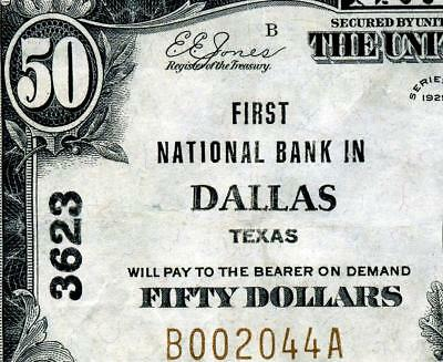 HGR FRIDAY 1929 $50 National ((Dallas, TEXAS)) AWESOME GRADE