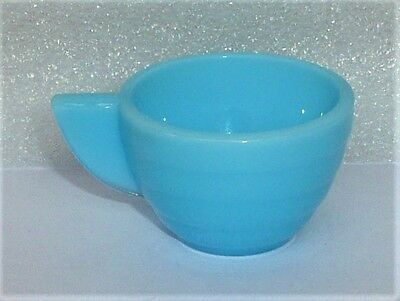 Akro Agate Child Tea Set Stacked Disc Azure Blue Cup ~ 4 Available