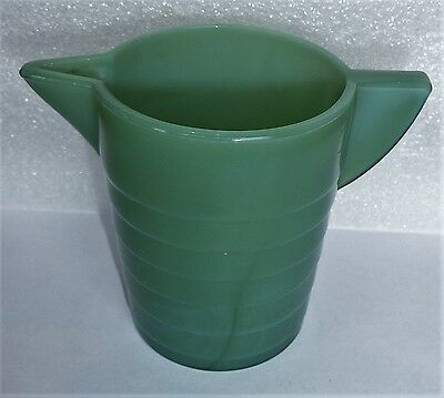 Akro Agate Stacked Disc Green Pitcher