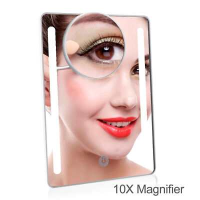 20LED Vanity Mirror with Moveable 10x Magnification USB Desktop Mirror Cosmetic