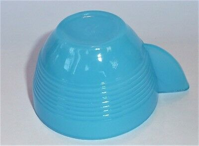 Akro Agate Tea Set Small Concentric Ring Light Blue Cup