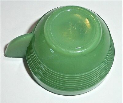 Akro Agate Tea Set Small Concentric Ring Green Cup ~ 8 Available