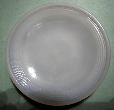 Akro Agate Small Concentric Ring / Stacked Disc Glass White Saucer ~ 4 Available