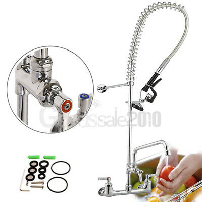 "Hot Commercial Kitchen Restaurant Pre-Rinse Faucet Swivel With 12"" Add-On Faucet"