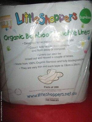 Organic Bamboo Flushable Nappy Liners BNIP 200
