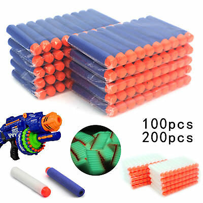 50- 400 Nerf Gun Soft Refill Bullets Darts Round Head Blasters For N-Strike Toy