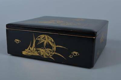K4529: Japanese Wooden Lacquer ware FOOD BOXES Jubako Lunch Box