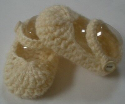 Off white/beige Mary Jane booties/shoes/slippers - Dolls Clothes for Baby Born