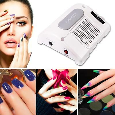 35000 RPM  3 in 1 Electric Nail Drill Art Dust Collector Suction Machine Lamp##