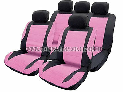 F Leather Look UrbanX Black Grey Car Steering,Seat Covers Harness Pads Full Set