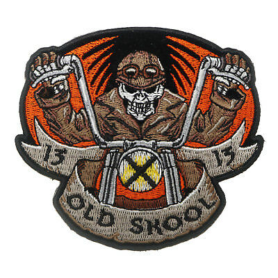 "Lone Wolf No Club Chopper Hog Outlaw Biker Rider Iron Embroidered Patch 3.6/""//9cm"