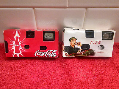Coca Cola Cameras - (2) - Collectible - Have not been used - they may not work