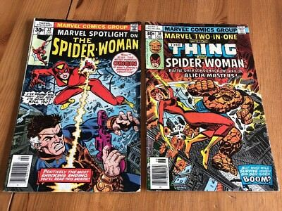 Marvel Spotlight 32 And Marvel Two-In-One 30 1st + 2nd Spider-Woman Marvel